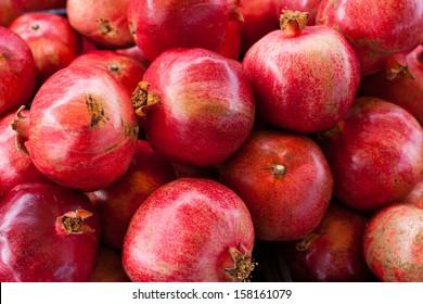 Fresh Pomegranates at Farmers market