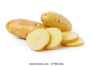 fresh potato isolated on a white background