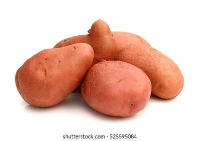 fresh potato on a white background