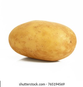 a fresh potato on white background