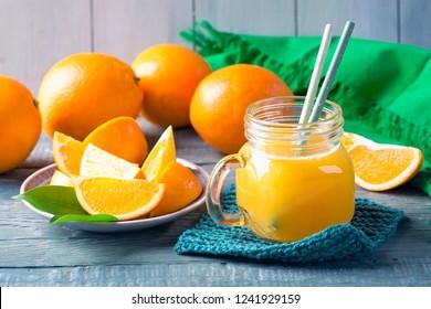 Fresh pressed orange juice in a glass