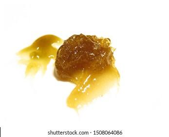 Fresh Pressed Organic Cannabis Rosin Closeup