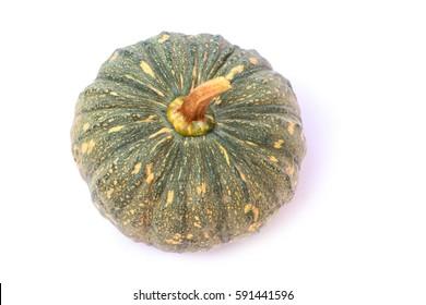 Fresh pumpkin isolated on white background