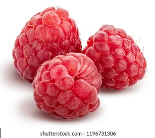 Fresh raspberry isolated on white background.