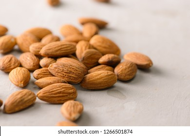 Fresh raw almond. Organic healthy snack vegan vegetarian