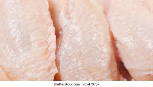 Fresh raw chicken wing