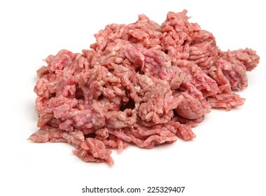 Fresh raw ground lamb meat or mince.