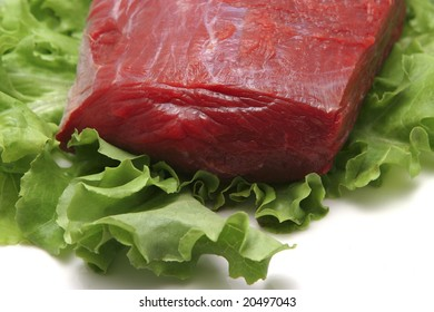 fresh raw meat close-up