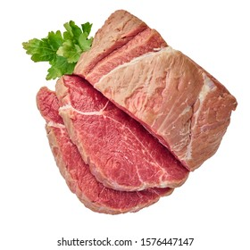 fresh raw meat on a white isolated background