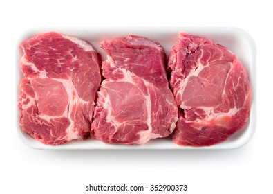 Fresh raw meat steak. With clipping path.