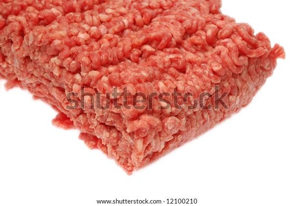 Fresh raw minced beef.