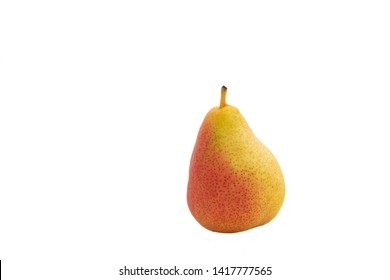 Fresh Raw red pear isolated on white