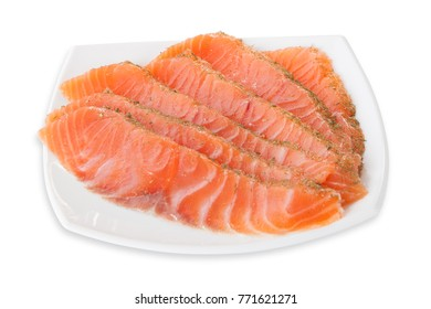 Fresh raw tuna fish steaks.isolated on white background, view from above, close-up.