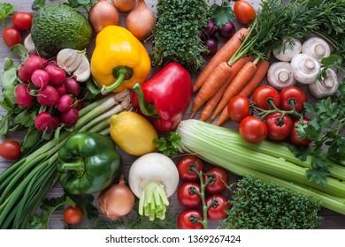 Fresh raw vegetables