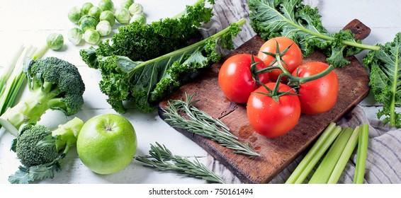 Fresh raw vegetables. Healthy food
