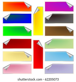 fresh rectangular labels, abstract art illustration; for vector format please visit my gallery