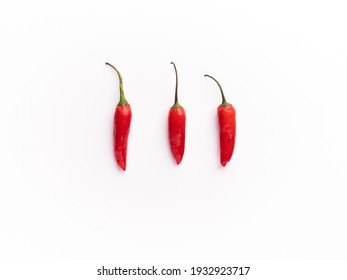 Fresh Red Chili with white background stock image.