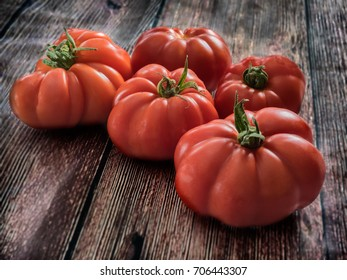 Fresh red Marmande RAF red tomatoes