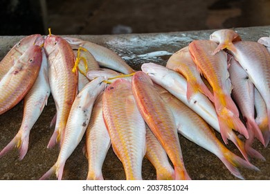 Fresh red snapper at the market in Victoria, the capital of Mahe, Seychelles