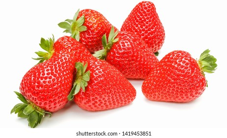 Fresh red Strawberries in white background