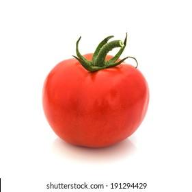 fresh red tomato isolated on white  background.