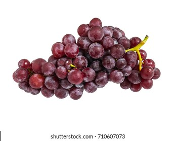 fresh red wine grape isolated on white background