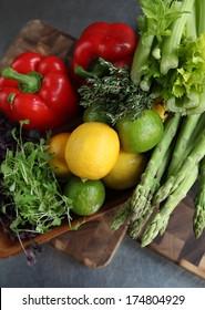 Fresh restaurant produce.