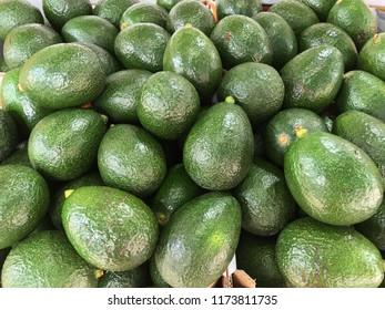 Fresh ripe avocado in market street Israel