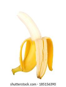 fresh ripe banana isolated on white background