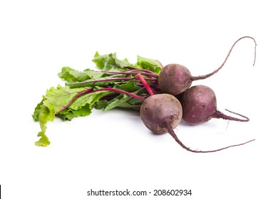 Fresh ripe beet isolated on white background