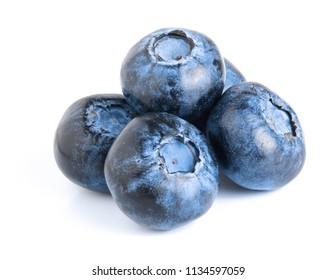 fresh ripe blueberry isolated on white background