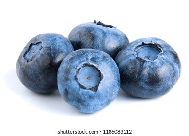 fresh ripe blueberry isolated on white background