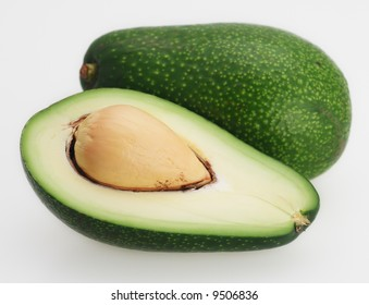 fresh ripe green california organic hass avocado