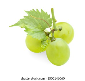 Fresh ripe juicy grapes isolated on white