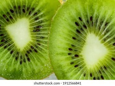 Fresh ripe kiwi fruit for background. Close-up