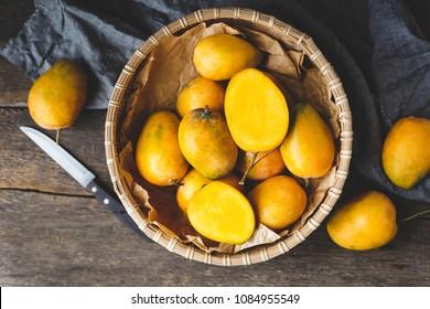 Fresh ripe mangoes