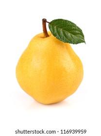 Fresh ripe pear in closeup