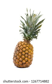 Fresh and ripe pineapple isolated on white background