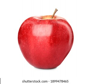 Fresh ripe red apple isolated on white