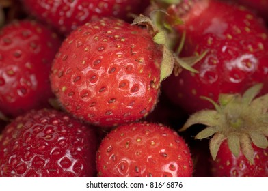 Fresh, ripe, sweet strawberry as a background