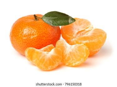 Fresh ripe tangerines -