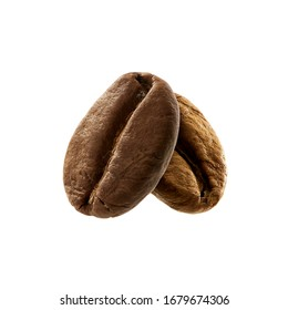 fresh roasted coffee bean isolated on white background