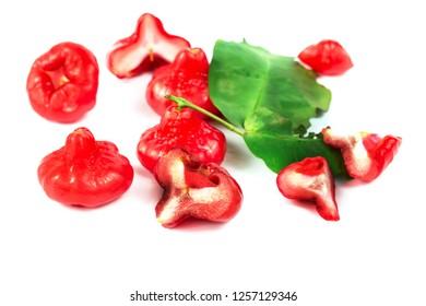 Fresh rose apple fruit isolate on white