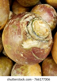 A fresh rutabaga -the root vegetable