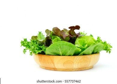 Fresh salad Isolated with white background