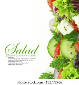 Fresh salad mixed vegetables