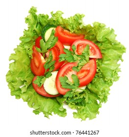 fresh salad in a plate