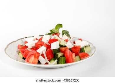 fresh salad plate isolated