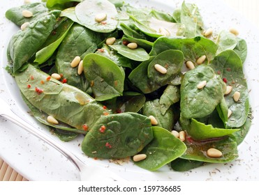 fresh salad of spinach