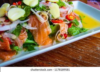 Fresh Salmon spicy salad
